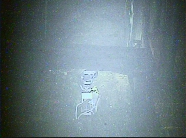 調査を行うサソリ型ロボ