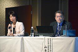 欧米の事例を踏まえながらエネルギー問題を議論する川口氏(左)と山本氏