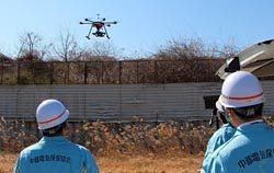 地元自治体から受注した空撮点検業務。マルチコプターラボが操縦を担当した
