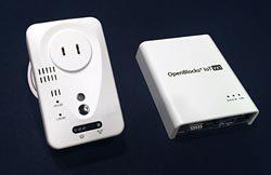 実証試験で使用するセンサー装置(左)とゲートウエー