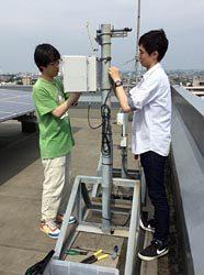 湘南工科大校舎屋上に設置されたLLS