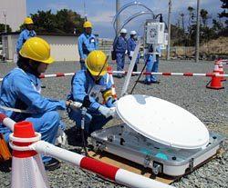 通信衛星システム設営競技の模様