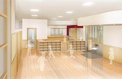 5月に開業する保育園の内装イメージ