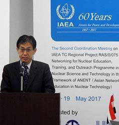 開会セッションであいさつする福井県の藤田副知事