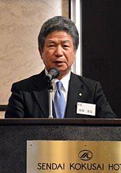 東北地域の産業育成を目指すことを強調した向田会長