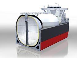 積載容量を15%増加させたモス型LNGタンク