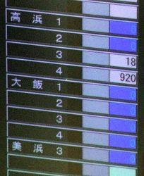 高浜3号機の出力が表示された中央給電指令所の系統監視盤(9日)