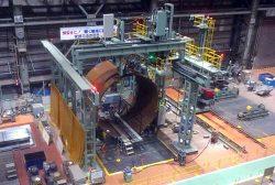 製造を開始した石炭ガス化炉容器