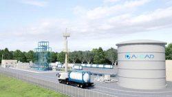 ブルネイに建設する水素製造・水素化プラントの完成予想図