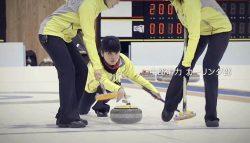 CMで放送される日本選手権決勝戦のワンシーン