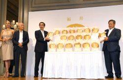 都内で行われた「いちほまれ」のロゴ・パッケージデザインの発表会