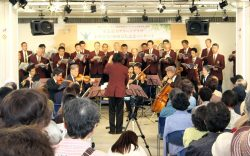 来館者数3000万人達成を記念して行われた仙台フィルハーモニー管弦楽団のコンサート