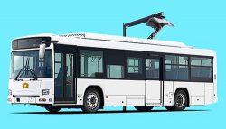 2019年4月に導入する電気バスの車体イメージ
