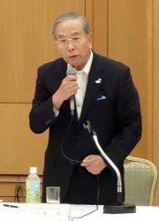 少子化克服へ粘り強い取り組みを訴える千葉会長