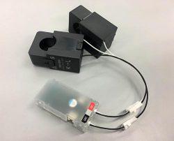開発した電流センサー。市販品の半額以下という低コストを実現した
