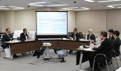 島根原子力の安全性向上に向けた意見交換が行われた。左から2人目が清水社長