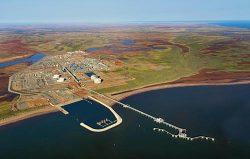 LNG生産が始まったウィートストーンプロジェクト(米シェブロン社提供)