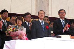 命名式に出席した広瀬社長(右から2人目)