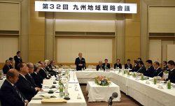 麻生共同代表(奥中央)が「熊本の創造的復興は着実に進んでいる」とあいさつした