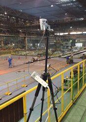 配管の曲げ加工ラインを撮影するカメラを試験的に設置した