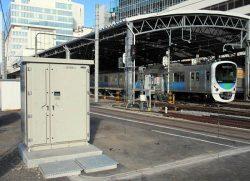西武鉄道池袋駅に設置された駅舎補助電源装置