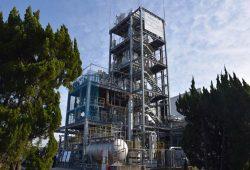 三川発電所に併設された東芝のCO2分離・回収パイロットプラント