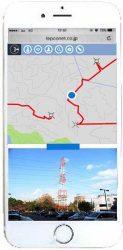 「アットサーチ.T」の画面イメージ。巡視者の現在地や鉄塔の位置、巡視路を地図上に表示できる