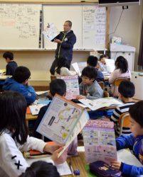 NUMOの教材も使用し、高レベル放射性廃棄物について学習した