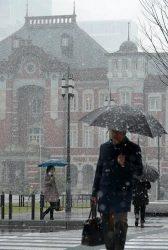発達した低気圧が本州南海上を進んだ影響で、1月22日は西日本から東北地方の広い範囲で大雪となった。東京電力パワーグリッド(PG)エリアでは、電力需要が5千万キロワットを超え、今冬最大を更新した。写真は、降雪した東京都心(22日、東京都千代田区)