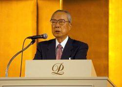 今井会長は温室効果ガス削減などへの原子力の役割を強調した