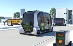 移動や物流、物販など多目的に活用できるトヨタのEVコンセプトカー(イメージ)