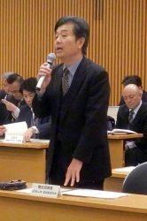 社会保険加入率100%を目指すと話す田村土地・建設産業局局長