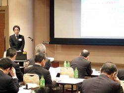 省エネをテーマに提案型営業の事例を発表した