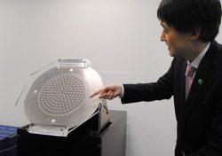 リレーアンテナ「リーサ」の試作機。さらなる小型化が可能でドローンへの搭載にも対応している