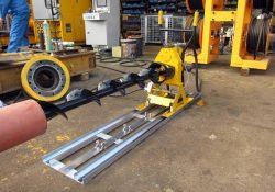 非開削で管路を敷設できる新型管路掘削機