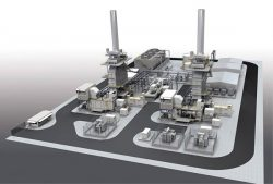 10万kW級コンバインドサイクル発電プラントのイメージ図