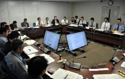 約30人の工事関係者らが集まった合同調整会議