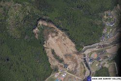 アジア航測が撮影した崩壊地の全景写真