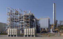 関電工初となるバイオマス発電所の外観