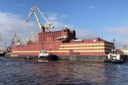 ロスアトムが開発した世界初の船舶型原子力発電所「アカデミック・ロモノソフ」