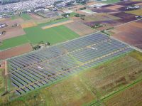 収益拡大に寄与する太陽光発電事業(北海道の恵庭太陽光発電所)