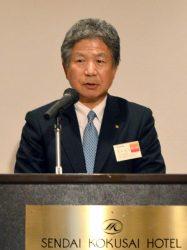 冒頭あいさつで地域経済の高度化を訴えた向田会長