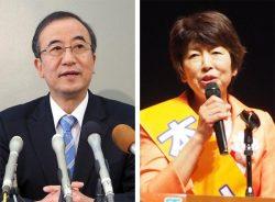 新潟県知事選への出馬を表明している花角英世(左)、池田千賀子の両氏