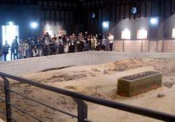 原町火力発電所構内に保存されている国内最大級の古代製鉄遺跡群「金沢遺跡」が一般公開された