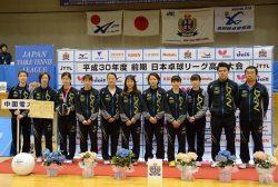 中国電力女子卓球部のメンバー(ニッタクニュース提供)