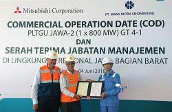 「ジャワ―2プロジェクト」の運開記念式典