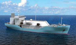 LNG燃料補給船の完成イメージ