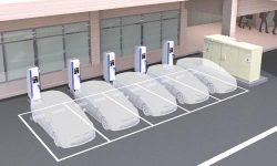 駐車場に設置して利用するV2Xシステムのイメージ