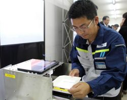 大阪ガスが開発した、給水による米の変化を画像認識する装置