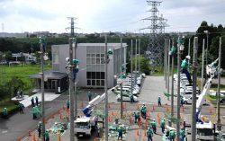 配電部門の新入社員が研修の成果を披露した